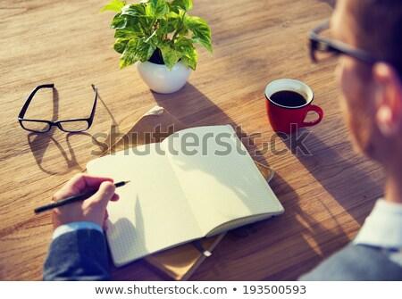 creative time of work at coffee shop stock photo © nalinratphi