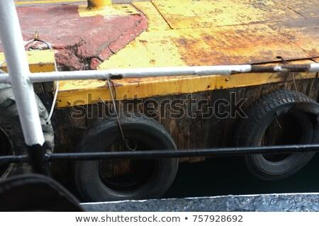 Iki araba sarı gökyüzü Stok fotoğraf © aspenrock
