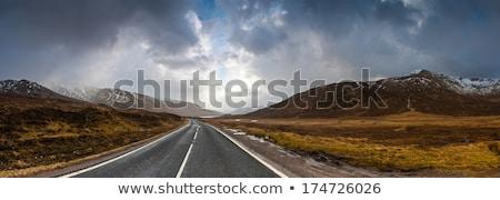 Open road leading through Glencoe, Scottish Higland, Scotland Stock photo © lightpoet