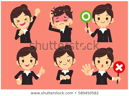 cartoon woman with no worries Stock photo © lineartestpilot