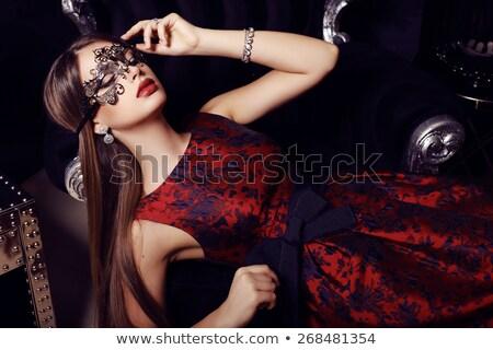 Blond femme luxe chambre dame Photo stock © majdansky