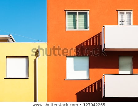 modern block house in color Stock photo © tracer