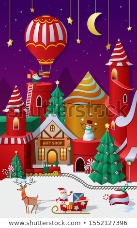 пингвин · Рождества · история · рождественская · елка · льда · зима - Сток-фото © dessters