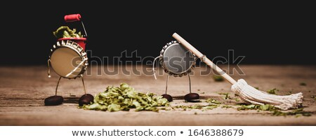 empty green beer bottle with crown seal stock photo © gewoldi