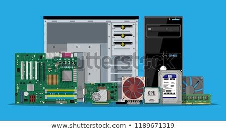 Computador tecnologia serviço apoiar eletrônico Foto stock © OleksandrO