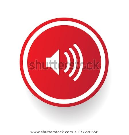 ストックフォト: スピーカー · 赤 · ベクトル · アイコン · デザイン · デジタル