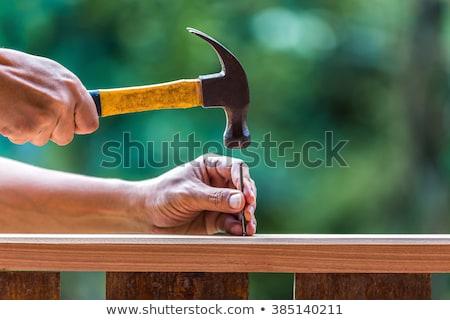 młotek · paznokcie · budynku · drzewo · pracy - zdjęcia stock © rob_stark