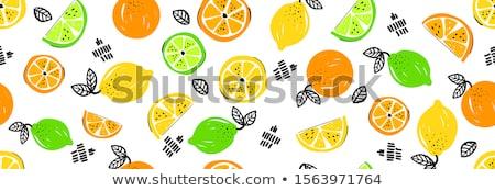 スライス オレンジ キウイ オレンジ フルーツ クローズアップ ストックフォト © vtls