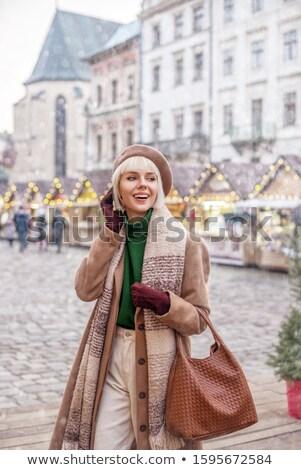 блондинка белый перчатки женщину Сток-фото © wavebreak_media