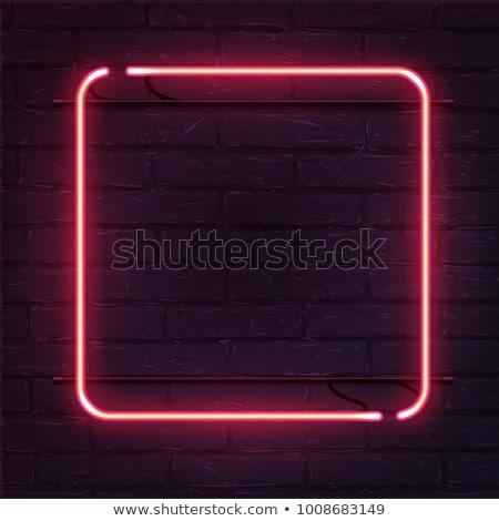 Enerji imzalamak simge kare vektör kırmızı Stok fotoğraf © rizwanali3d