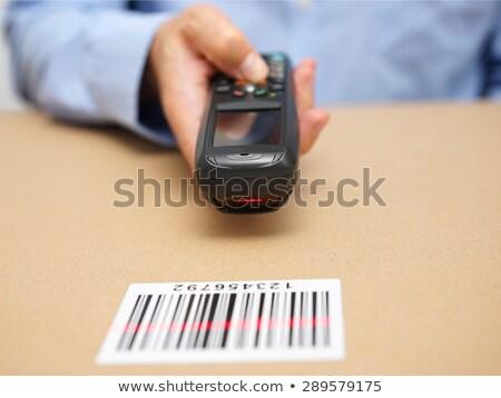 soluzione · barcode · parola · sfondo · rosso · nero - foto d'archivio © fuzzbones0