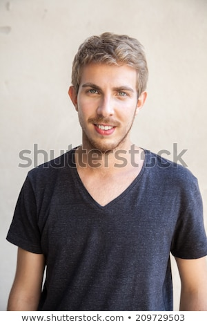 20 years old caucasian young man with blue eyes Stock photo © aladin66
