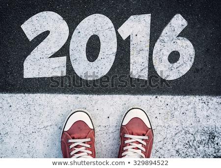 ストックフォト: 明けましておめでとうございます · 2016 · 人 · 着用