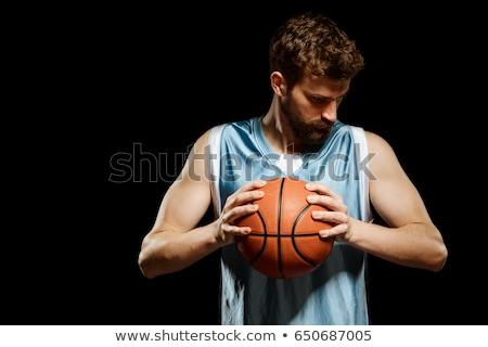 Férfi kosárlabdázó stúdiófelvétel fekete férfi sportok Stock fotó © nickp37