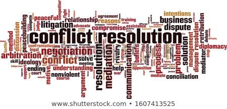紛争 言葉 鉛筆 消しゴム 赤 コンセプト ストックフォト © fuzzbones0