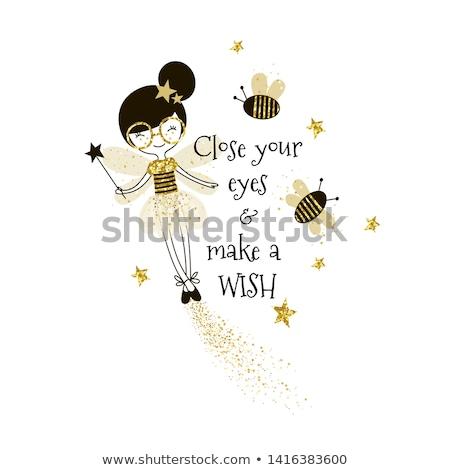 Bajki Pszczoła ilustracja cute kobiet włosy Zdjęcia stock © Dazdraperma