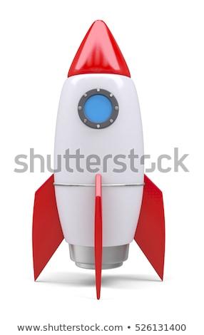 roket · oyuncak · büyük · bir · grup · Retro · robotlar · kalabalık - stok fotoğraf © davinci