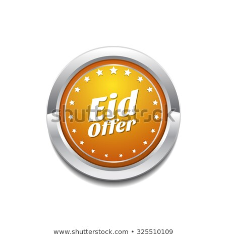 eid offer yellow vector icon button stock photo © rizwanali3d