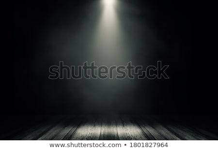 Dark room with wooden floor Stock photo © w20er