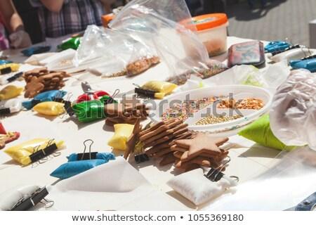 Ev yapımı köpek kurabiye dekoratif Noel çanta Stok fotoğraf © rojoimages