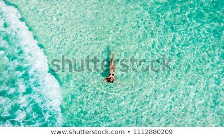 caribbean · Mexicaanse · zee · palmbomen · strand - stockfoto © lunamarina