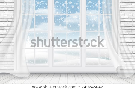 kerstboom · Blauw · witte · kamer · speelgoed · christmas - stockfoto © avlntn