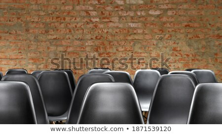 Stok fotoğraf: Rows Of A Chairs In Empty Presentation Hall Focus On A Chairs In First Row