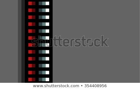 çelik techno kırmızı ışık gri Metal Stok fotoğraf © Melvin07