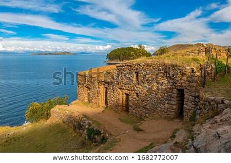 view over lake Titicaca from islas del sol Stock photo © meinzahn