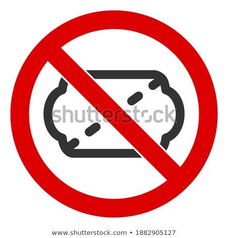 Delete Ticket icon Illustration design Stock photo © kiddaikiddee