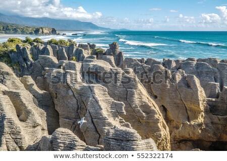Panqueca rochas belo erosão anos água Foto stock © Hofmeester