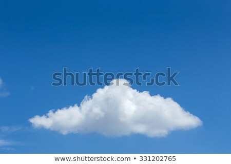 Single big cumulus cloud in blue sky Stock photo © lunamarina