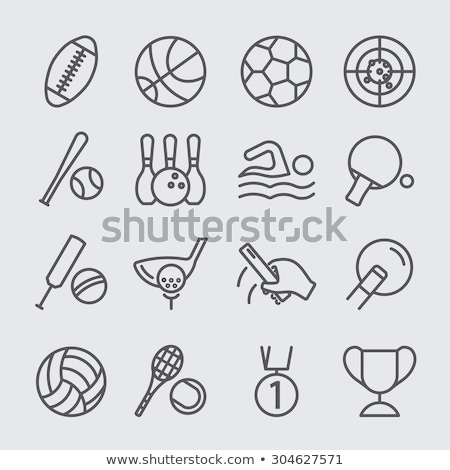 Billiard ball line icon. Stock photo © RAStudio