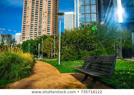 Houston felfedezés zöld park belváros Texas Stock fotó © lunamarina