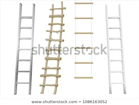 A ladder made of wood and rope Stock photo © bluering