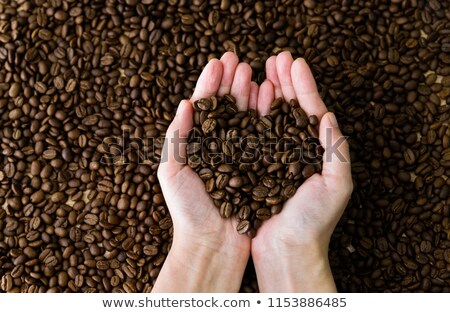 sembolik · kalp · kahve · çekirdekleri · kahve · sevmek · içmek - stok fotoğraf © ozgur