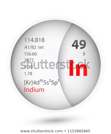A button with the chemical element Indium Stock photo © bluering