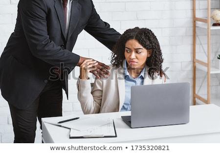 woman molests man on the job Stock photo © Giulio_Fornasar