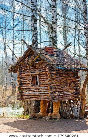 toy house in the woods a hut on chicken legs stock photo © m_pavlov
