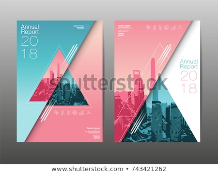 Modern Annual report Vector Abstract design template Stock photo © orson