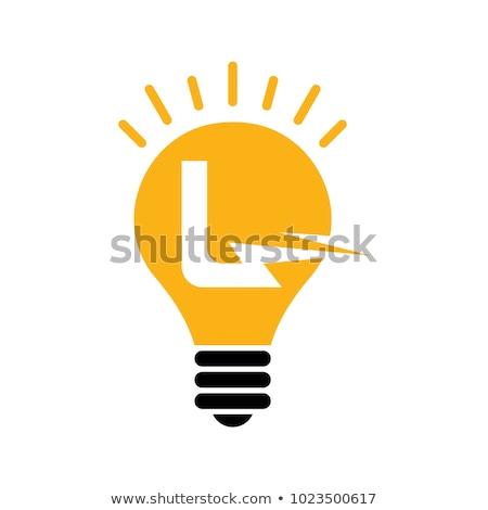 Letter l gloeilamp illustratie witte school licht Stockfoto © bluering