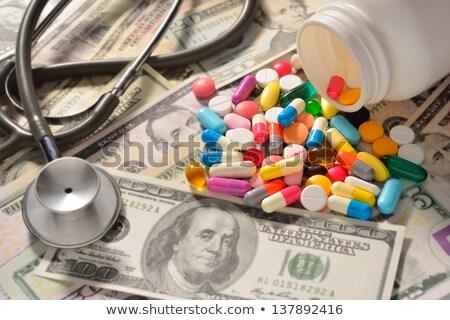 Adicto manos drogas dinero drogas Foto stock © dolgachov