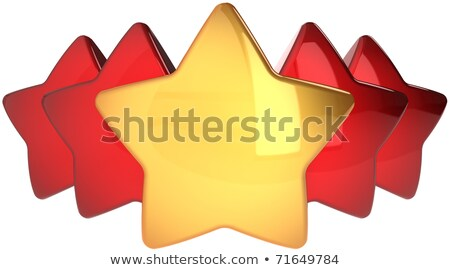Voting concept. Rating one golden star. 3D Stock photo © djmilic