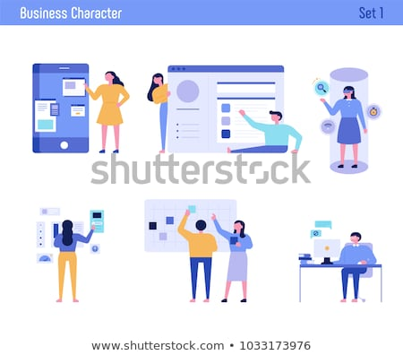 man character vector illustration in flat design stock photo © robuart