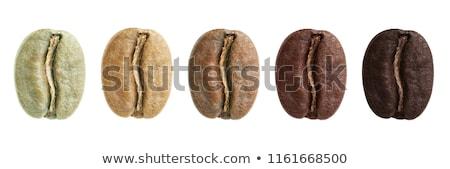 chicchi · di · caffè · bianco · primo · piano · rosolare - foto d'archivio © Digifoodstock