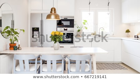 kitchen interior with table and chairs stock photo © neonshot