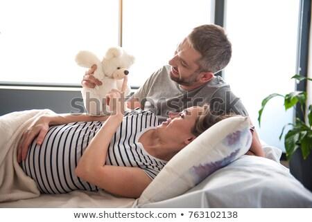 Genç koca hamile eş Stok fotoğraf © Yatsenko