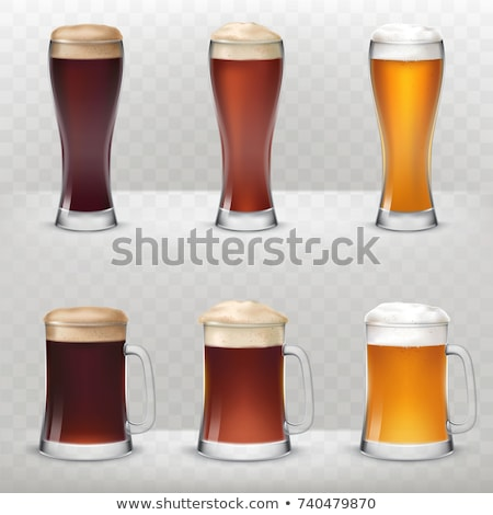 Realistic beer glasses set stock photo © pakete
