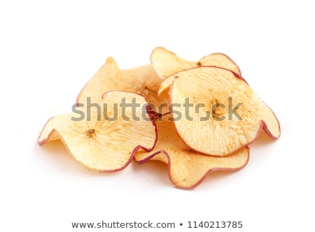 Berühmt Getrocknet · Apfel · Scheiben · Heap · Chips · Holz - stock foto EH08