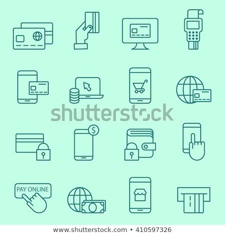 segura · pago · icono · diseno · aislado · ilustración - foto stock © wad
